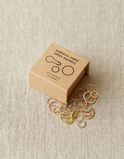 coco knits, precious metal stitch markers